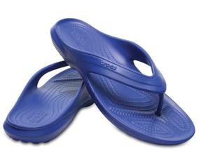 Crocs, Sandalia Unisex, Clasic Flip Azul
