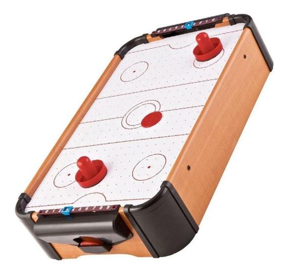 Mini Air Hockey A Pilha Game Jogo De Mesa Portátil Western