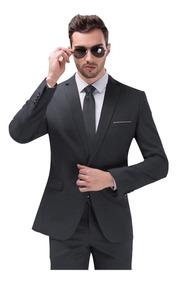 Terno Slim Fit Casamento Ternos Blazer Calça + Colete