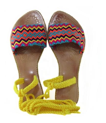 Sandalias Wayuu Tipo Romana Originales Hechas A Mano