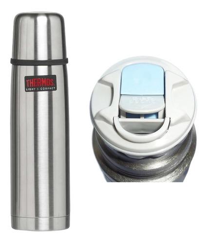 Termo Thermos Matero Cebador Bala Acero Inoxidable 1 Litro