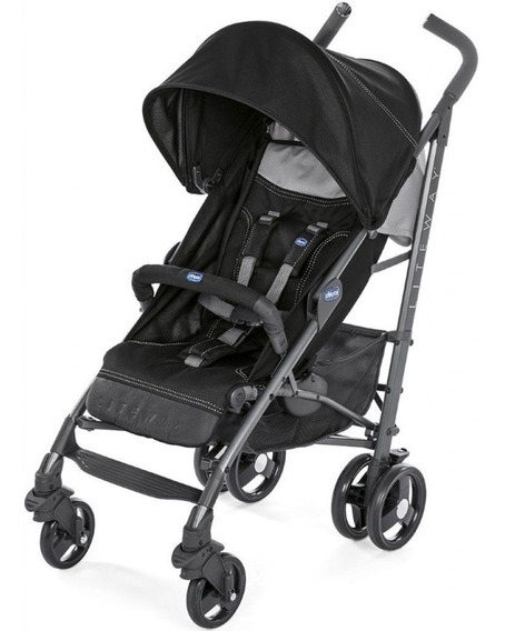 Carrinho De Bebê Lite Way 3 Basic Jet Black Chicco 15kg