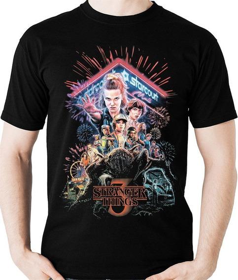 Camiseta Série Stranger Things 3 Geek Camisa Blusa