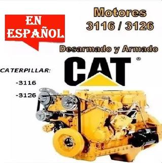 Caterpillar 3116 3126 Despiece Motor Taller Reparación Esp