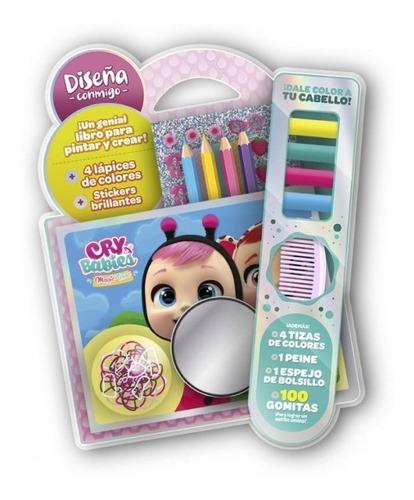Diseña Conmigo Libro Con Lápices Y Stickers Cry Babies 4230
