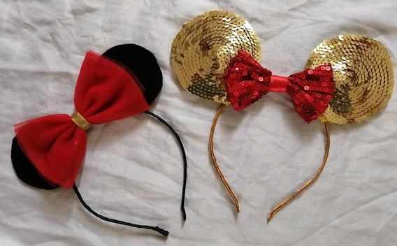 Diademas De Minnie Mouse. 10pzs