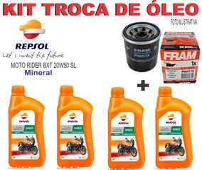 Kit Troca Óleo/filtro Honda Cbr 929rr Repsol 20w50 Sl Sport