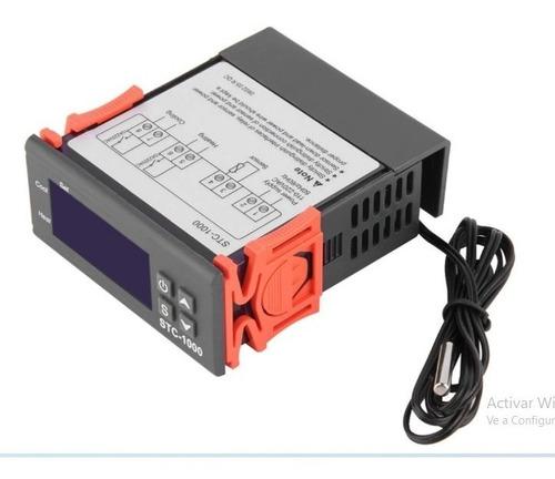 Imagen 1 de 1 de Termostato Digital Incubadora Stc1000 Con Sensor, 110v