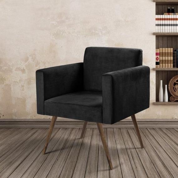 Poltrona Cadeira Nina Tecido Suede Liso