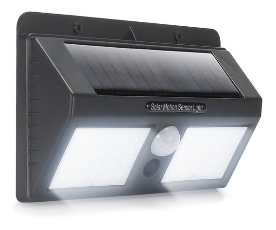 Luminària 40 Leds Solar Recarregável Dupla Arandela C Sensor