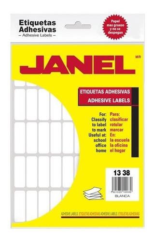 Etiquetas Blancas Janel No. 6 De 13x38 Mm 1 Paquete