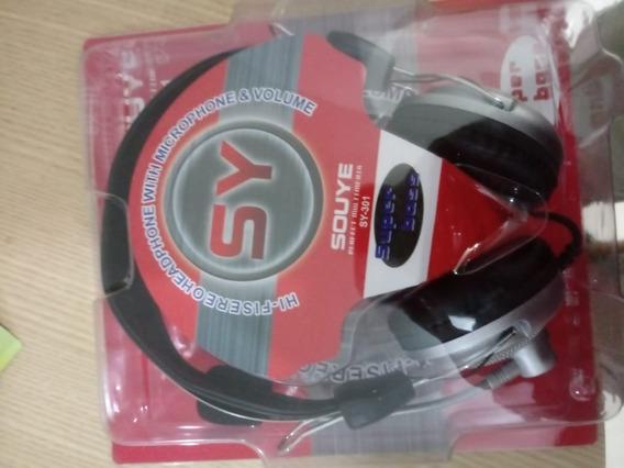 Headphone Com Microfone Sy-301