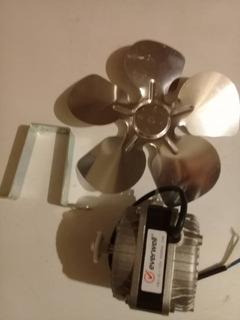 Motor Ventilador Congelador Nevera 10w 110v Con Aspa Y Base