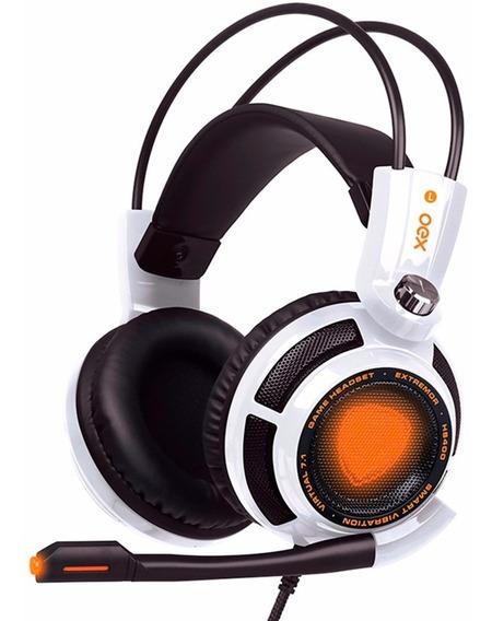 Headset Extremor 7.1 Usb Branco Hs-400 Oex