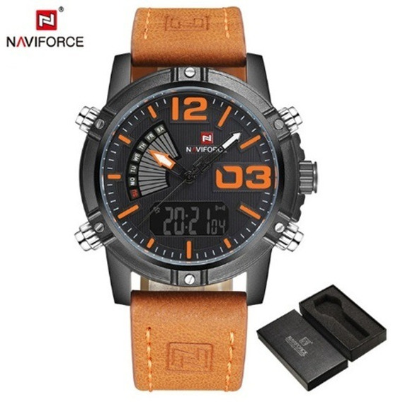 Relógios De Pulso Masculino Naviforce Quartzo - Digital 9095