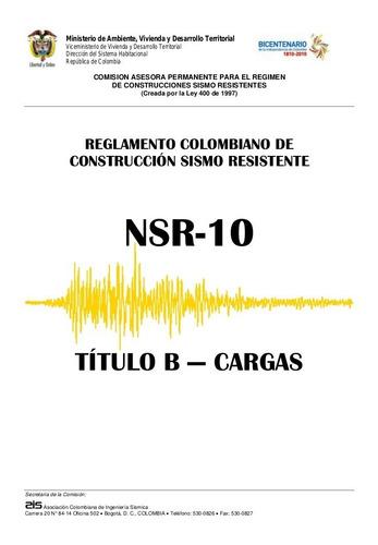 Imagen 1 de 1 de Título B De La Nsr-10 En Físico