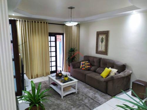 Imagem 1 de 22 de Sobrado Com 3 Dormitórios À Venda, 203 M² Por R$ 650.000,00 - Parque São Vicente - Mauá/sp - So0005