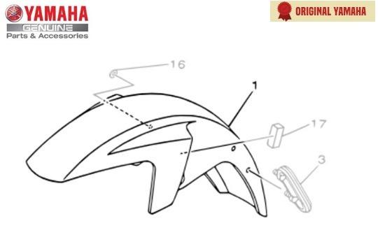 Para-lama Dianteiro Prata Yamaha Ybr Factor 125 Original
