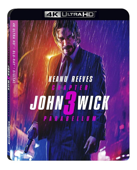 John Wick 3 Tres Parabellum Pelicula 4k Ultra Hd + Blu-ray
