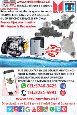 Reparación De Bombas De Agua Automotrices Isuzu Thermo King
