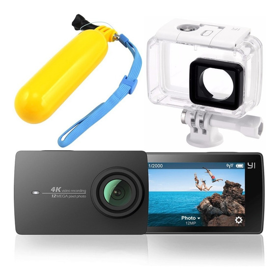 Câmera Xiaomi Yi 2 4k 12mp Filmadora Original + Caixa Estanque Yi + Boia Flutuante
