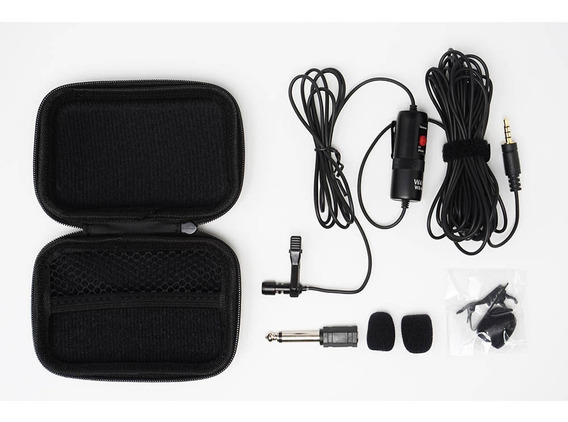 Microfone De Lapela Wansen M1 Câmeras Dslr Smartphone Todo