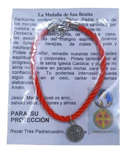 Imagen 1 de 2 de Pack 50 Pulsera De San Benito, **protección**, Hecha A Mano.