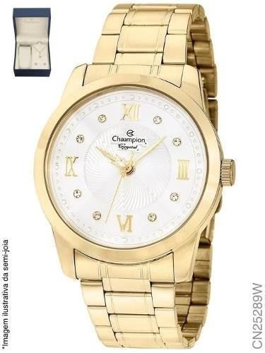 Relógio Feminino Champion Fashion Cn25289w + Colar E Brincos