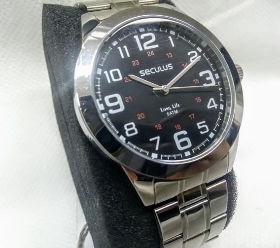 Relógio Masculino Seculus Long Life 28820g0svna1k De Vltrine