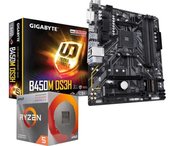 Kit Upgrade Amd Gamer Ryzen R5 3400g / B450m-ds3h / Vega 11