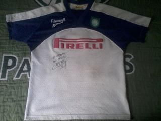 Rara Camisa Goleiro Palmeiras Oficial Autografada 2001 #1