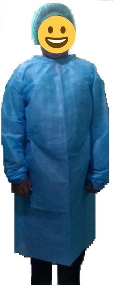Bata Quirúrgica Desechable Con Gorro De Gusano Incluido