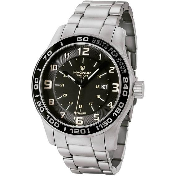 Relógio Magnum Masculino Titanium Mt30080t Tritium