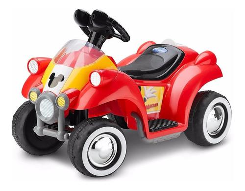 Disney Mickey Mouse Quad Moto Carro Eléctrico Niños 6v