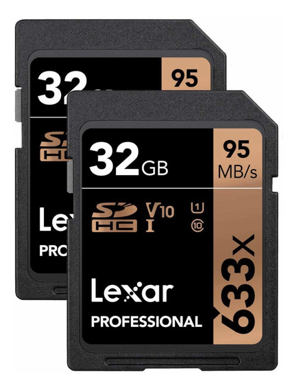Cartão De Memória (2und - Par) Sdhc Lexar 633x 32gb 95mb/s