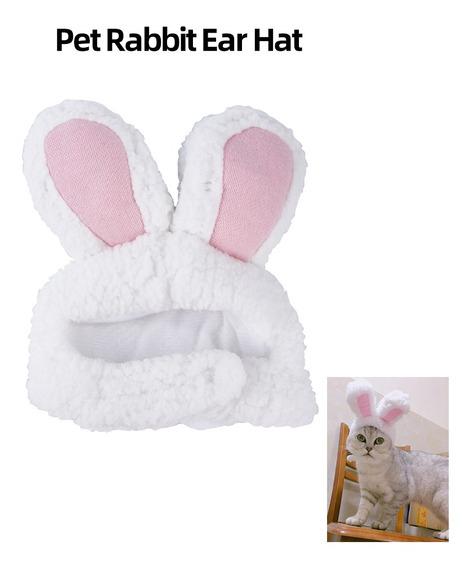 Lindo Pet Conejo Orejas Sombrero Para Gato Cosplay Ropa Fant