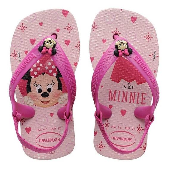 Chinelos Havaianas Baby Disney Clássicos Minie Original