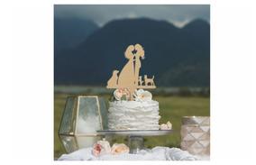 Letrero Para Pastel Pareja De Novias Topper Cake Art955