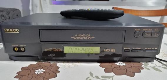 Video Cassete Philco Pvc-9400 4 Cabeças + Controle Remoto
