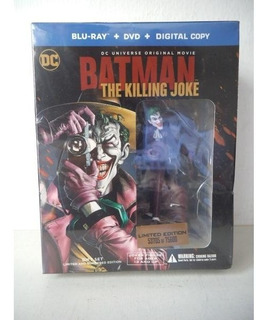 * Batman The Killing Joke Blu-ray Dvd Y Figura Guason Joker