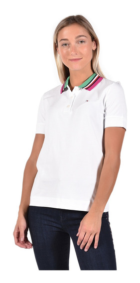 Polo Regular Fit Tommy Hilfiger Blanco Ww0ww25200-100 Mujer