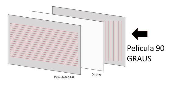 Película De Trás Do Ldc Tv - Polarizada 90° / 32 Polegadas