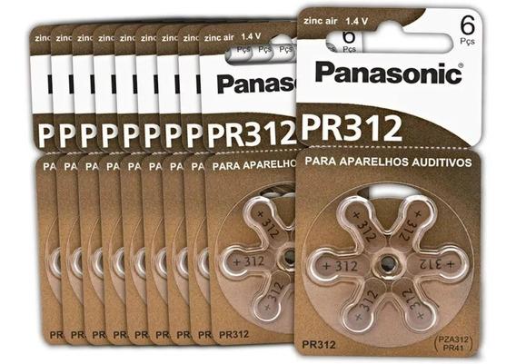 Bateria Auditiva Panasonic Zinco Air Pr-312 C/ 30 Unidades