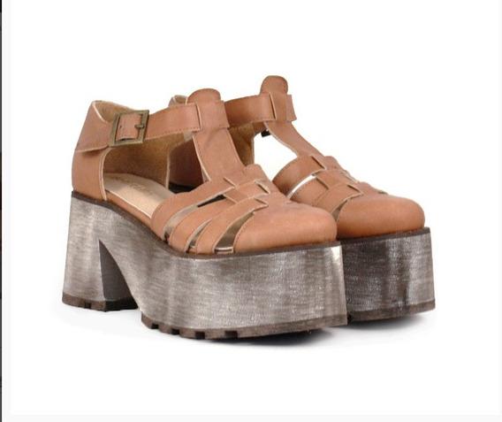 Zapatos Guillerminas De Cuero Nª 37 Liquido...