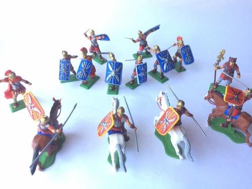 Soldados Romanos Gladiadores 2 Soldaditos De Plástico