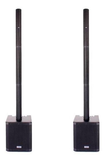 Kit 2 Vertical Arrays Dbr Va2200 Estéreo 3000w Rms Bluetooth