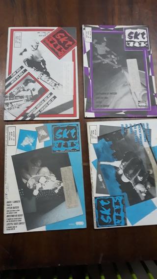 Fanzines De Skate Anos 80/90 Skt News 4 Exemplares Raros