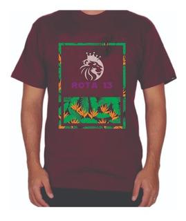 Camiseta Camisa Masculina Algodão Gola Redonda Estampada R13