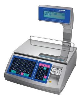 Balanza comercial digital Kretz Report LT 30 kg con mástil 110V/220V gris