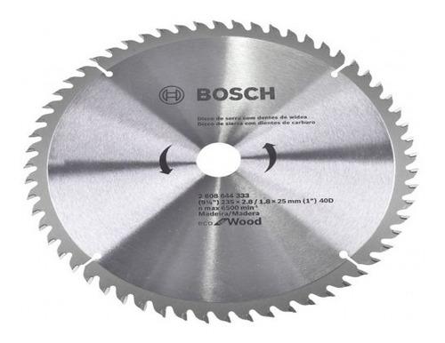 Disco De Serra Circular  235mm 40 Dentes Original Bosch